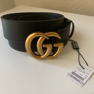 -New Gucci Belt Aúthentic Double G Marmot GG